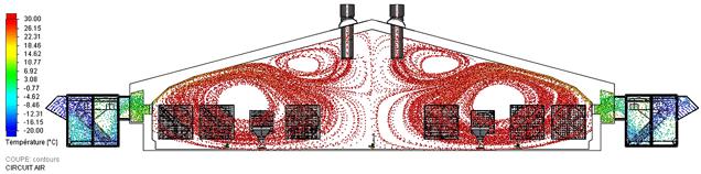 Схема вентиляции с централизованным притоком воздуха и механической вытяжной вентиляцией
